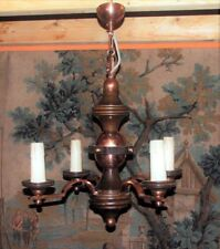 Copper French Antique Chandeliers Sconces Lighting
