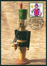 BRD MK 1990 WEIHNACHTEN RÄUCHERMÄNNCHEN MAXIMUMKARTE MAXIMUM CARD MC CM bt57