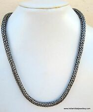 Traditional Design Silver Rope Chain Necklace Rajasthan