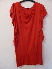 Ladies RED HERRING/DEBENHAMS Cowl Neck Batwing Sleeves Red Tunic/Dress - Size 10