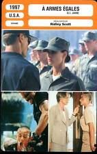 A ARMES EGALES - Moore,Mortensen,Bancroft ,Scott (Fiche Cinéma) 1997 - G.I.Jane