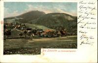 Die Lausche Sachsen alte Litho-AK um 1900 Panorama von Waltersdorf gesehen
