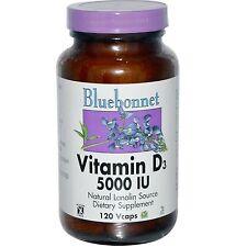 VITAMINA D3 - 120 - 5000IU Vcaps da Bluebonnet Nutrition - NATURALE LANOLINA