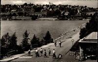Langscheid Sauerland AK ~1950/60 Promenade am Sorpesee Teilansicht Personen