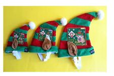 Holiday Elf Hat for Dogs & Cat - S - M - L - Elastic chin strap, Holiday photo