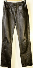 Maxima Wilsons Real Leather Black Pants Womens Size 8
