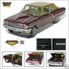 AUTO WORLD 1:18 SCALE DIECAST METAL BURGUNDY 1964 FORD THUNDERBOLT