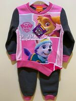 GIRLS PAW PATROL SKYE PINK AND GREY OUTFIT TRACKSUIT TOP JOGGERS BOTTOMS 2PC