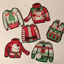 Ugly Christmas Sweaters - Iron On Fabric Appliques - Craft Show Projects