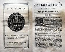 FIRENZE SIGILLO UNIVERSITA' TEOLOGIA