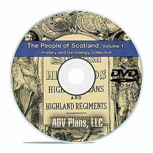 Scotland Vol 1 People Cities Family History and Genealogy 124 Books DVD CD B47
