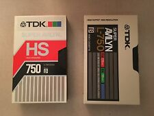 25 Beta Tapes TDK HS 750 & ES-750 Tapes - Recorded once