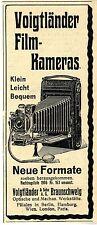 Voigtländer& Sohn Braunschweig Film-Kameras Neue Formate Historische Annonce1906