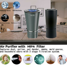 Hepa Filter Air Purifier Plug-In Smoke Eliminator for Home Car Office Allergies