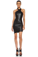 Nicholas Black Stretchy Leather Dress  Sold-Out Sz 8 New $750