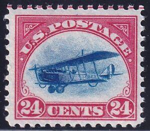 US STAMP BOB AIR #C3 – 1918 24c Curtiss Jenny, carmine rose & blue MNH/OG fresh~