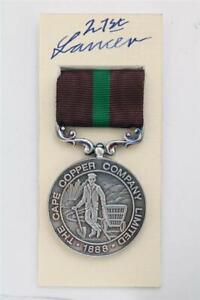 Défense De Ookiep Médaille Cape Cuivre Mining Co Guerre des Boers Col Shelton