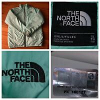 The North Face Girl's Full Zip Light Green Liner Jacket Size XL