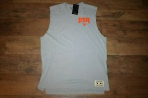 Under Armour Men's Project Rock Show Your BSR Sleeveless 4744 Size L (Gray) NWT