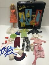 Vintage 1961 Ponytail Barbie Doll Case + 1966 Barbie & Lots of Accessories Baby