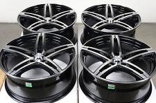 17 5x120 Rims Black Fits Bmw 128 135 Cadillac Cts Xts Impala Malibu Pilot Wheels