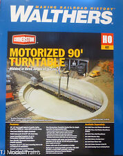"Walthers HO #933-2860 Motorized 90' Turntable -- Assembled - 13-3/4"" 34.9cm NEW"