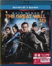 The Great Wall Blu Ray 2D + 3D Matt Damon Andy Lau Zhang Yimou NEW 2-Disc R1