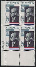 US Scott #1275, Plate Block #28233 1965 Stevenson 5c FVF MNH Lower Left