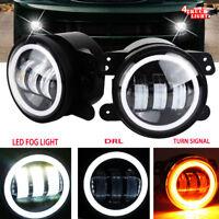 2X 30W 4 inch Led Fog Light Bulb White for Jeep Wrangler Jk LJ Dodge Chrysler PT