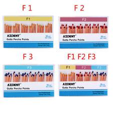 60pzas/C AZDENT Dental Endodoncia Tratar Obturación Gutta Percha Puntos F1 F2 F3