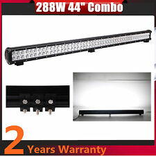 44inch 288W CREE LED WORK LIGHT BAR SPOT FLOOD COMBO 4WD DRIVING OFFROAD ATV 46""