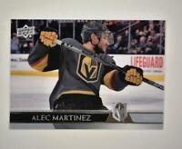 2020-21 UD Series 1 Clear Cut #181 Alec Martinez - Vegas Golden Knights