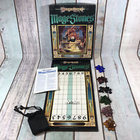 Vintage 1990 TSR Dragonlance Mage Stones Board Game RARE - Missing one dice
