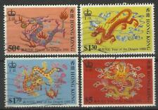 HONG KONG QE11 1988 YEAR OF THE DRAGON SET USED