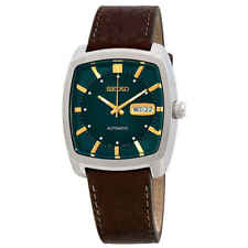 Seiko ReCraft Automatic Green Dial Brown Leather Men's Watch SNKP27