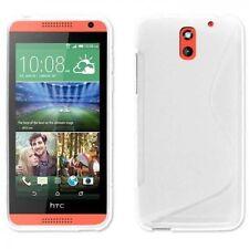 Fundas y carcasas HTC color principal blanco de silicona/goma para teléfonos móviles y PDAs