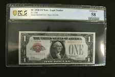 1928 $1 US Note Legal Tender Red Seal PCGS Choice AU58