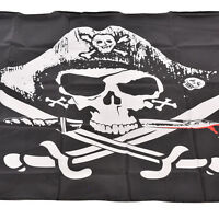Large Skull & Cross Crossbones Sabres Swords Jolly Roger Pirate Flags 3x5 SMS