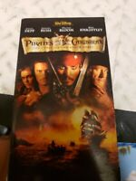 Pirates of the Caribbean: The Curse of the Black Pearl (VHS, 2003)