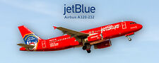"JetBlue Airways ""FDNY Red Shield"" Airbus A320-232 Photo Magnet (PMT1551)"