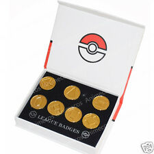 Pokemon Battle Frontier Set of Badges Metal Pins Brooches New in Gift Box Gold#1
