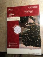 Holiday Living 150 ct Constant White Net Lights 4-ft x 6-ft Indoor/Outdoor