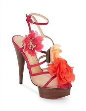 Charlotte Olympia- Botanica Flower, Mesh & Suede Sandals SZ-35 ORG$1295 SOLDOUT!
