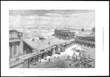 1876 Antiguo Print-India Royal visitar el fuerte Taj Mahal Agra cañones Carpa (75)