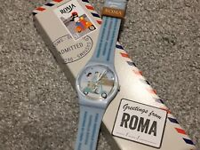 "NEW SWATCH DESTINATION SPECIAL GREETINGS FROM ROME ""VACANZE ROMANE"" WATCH GZ333"