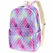 School Bags Bookbags For Girls Mermaid Rainbow High Quality durable Waterproof