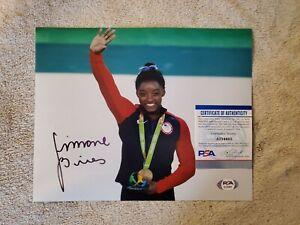 Simone Biles USA olympics signed 8x10 photo coa PSA/DNA #ai34985 autographed