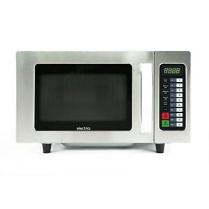 electriQ 1000W 25L Programmable Commercial Freestanding Microwave for Commercial