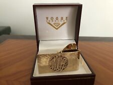 """14K Gold Money Clip, """"MK"""" Personalized, Professionally Polished, Excellent"""