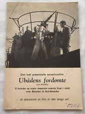 Les maudits Marcel Dalio Henri Vidal Florence Marly 1947 Danish Movie Program